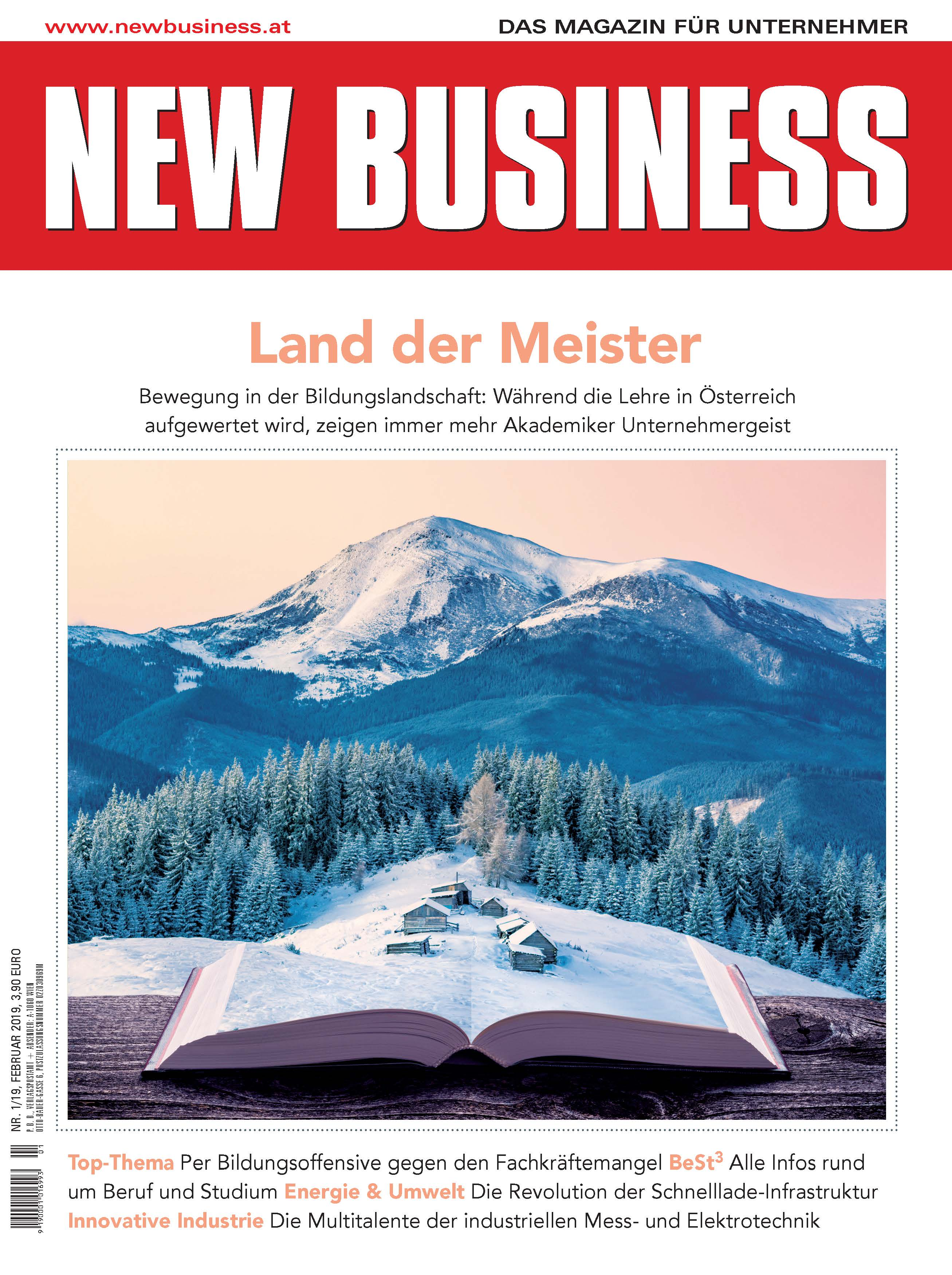 Cover: NEW BUSINESS - NR. 1, FEBRUAR 2019