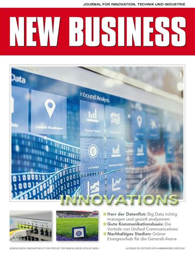 Cover: NEW BUSINESS Innovations - NR. 08, OKTOBER 2019