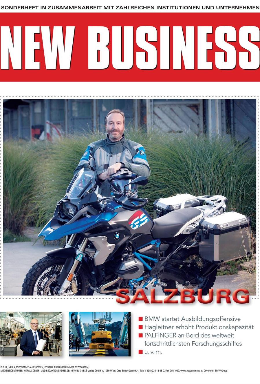Cover: NEW BUSINESS Bundeslandspecial - SALZBURG 2020